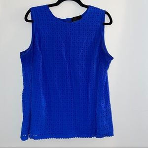 Cynthia Rowley Sleeveless Blue Blouse